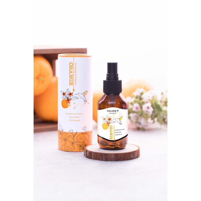 Golden H 澳洲純天然橙花水100ml + 送摩洛哥礦物泥淨膚面膜10g