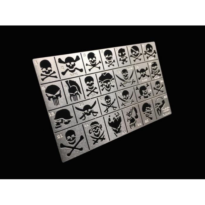 艾烈臣 高達軍事模型AJ0040 骷髏頭海盜標識 漏噴 鏤空噴板