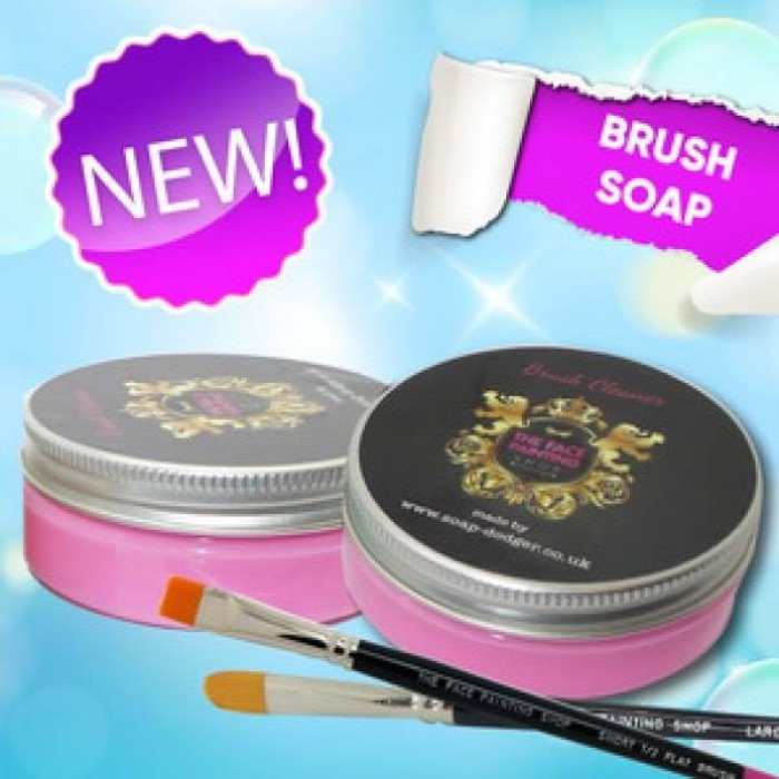 The Face Painting Shop Brush Soap Pink (Warm berry)
