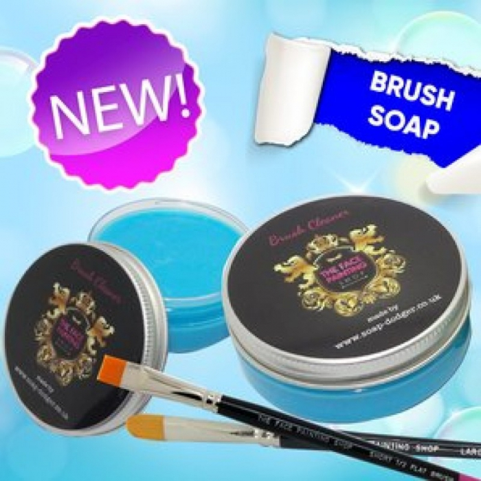 The Face Painting Shop Brush Soap Blue (Sea Breeze)