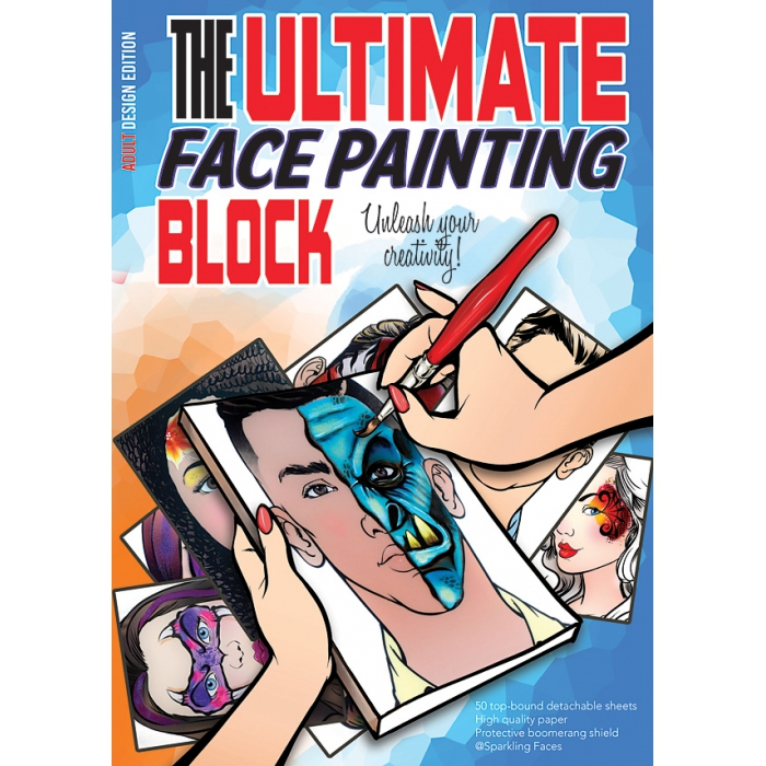 The ultimate face painting practice block - Adult edition