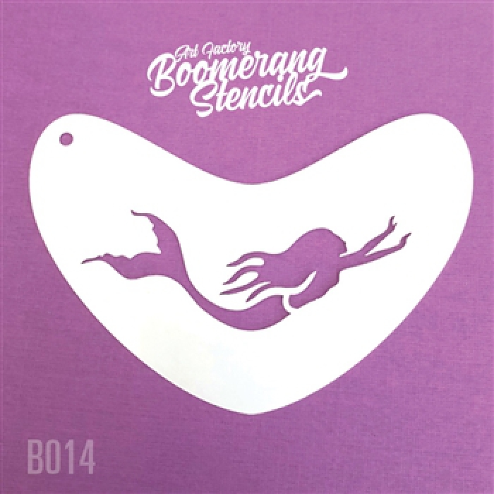 Art Factory: Mermaid Swimming Stencil Boomerang Stencil by the Art Factory