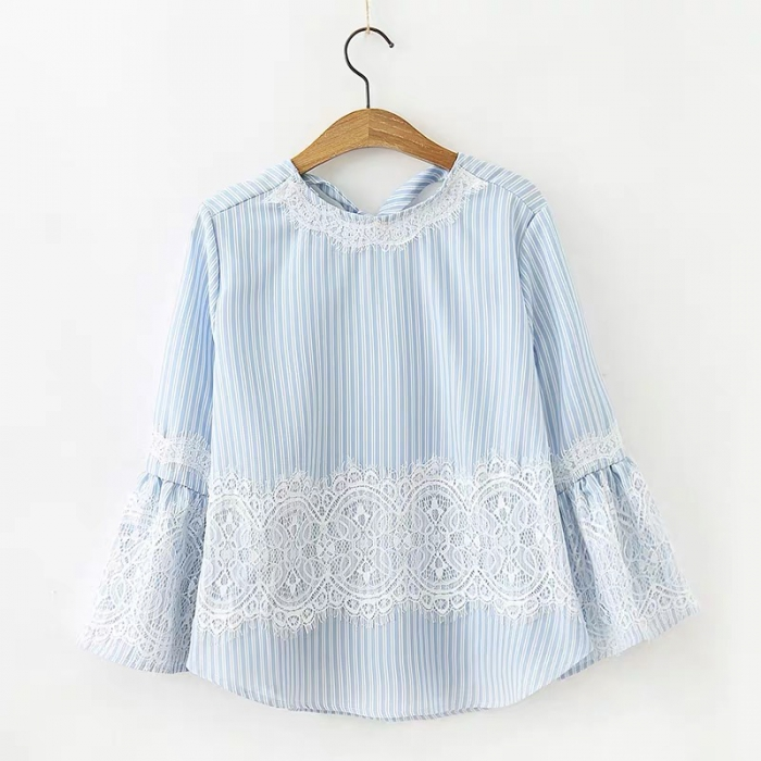 Stripe Lace Top