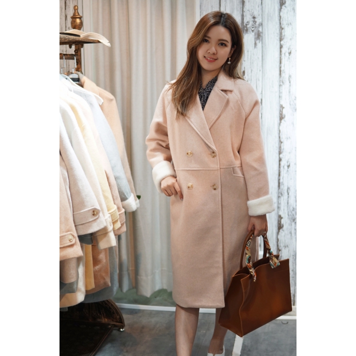 Candy Collection - Fur Sleeves Coat
