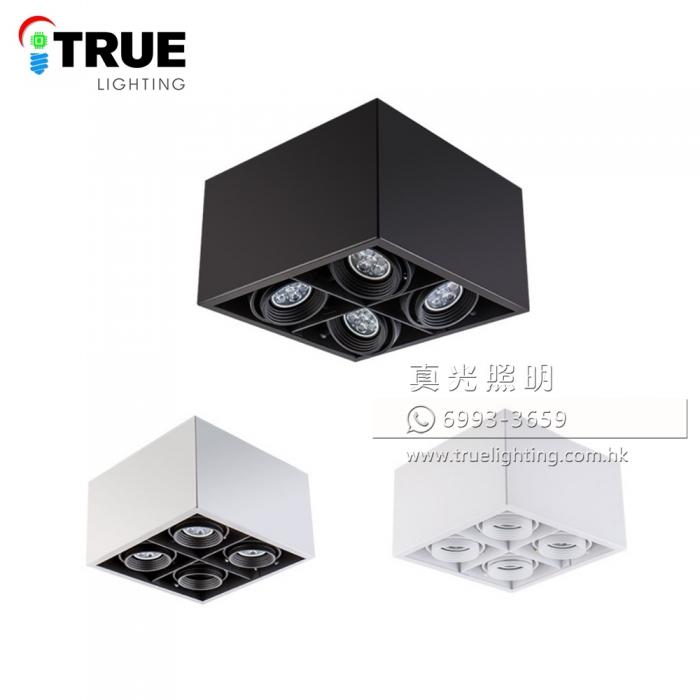 盒仔燈(明裝四頭) GU10 LED Surface Mount Downlight