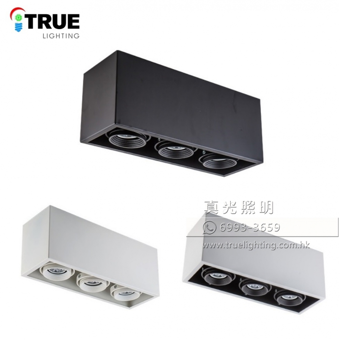盒仔燈(明裝三頭) GU10 LED Surface Mount Downlight