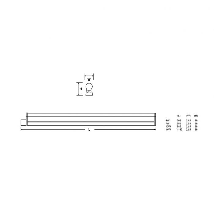 英國金盾 Crompton LED T5一體式無縫支架 1呎/2呎/3呎/4呎