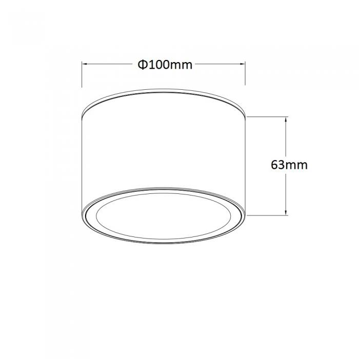 筒燈(明裝/防水) GX53 LED Waterproof Downlight ADF107