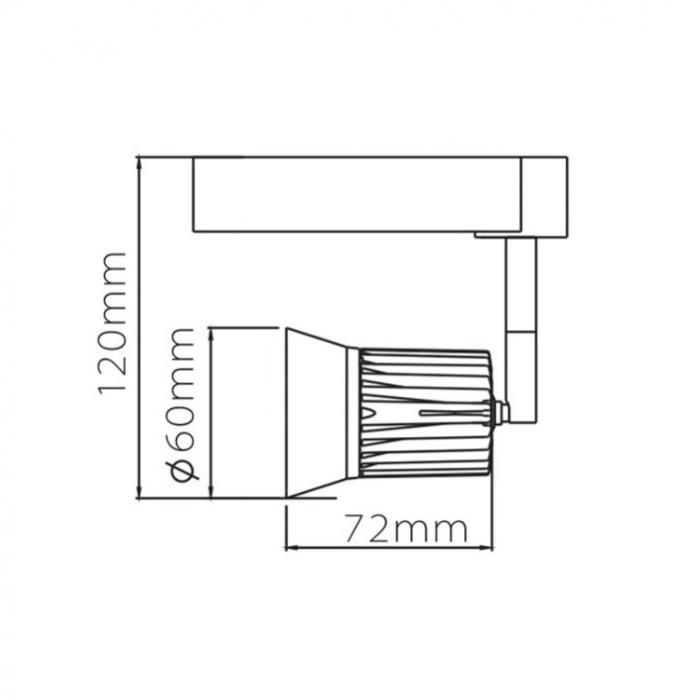 路軌射燈 軌道燈 9W LED Tracklight By RIO LTM401