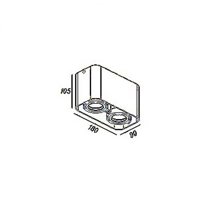 盒仔燈 合仔燈 GU10 LED Box Lamp GD5642