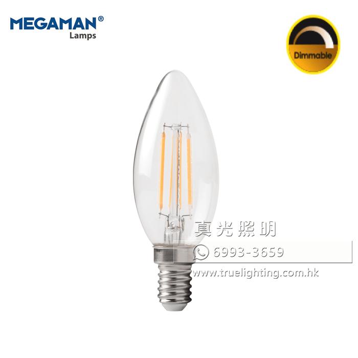 曼佳美 椒形燈泡 MEGAMAN LED Filament E14 Bulb LC2205dCS-27