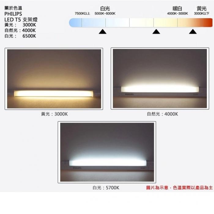 飛利浦亮輝LED T5光管連支架燈 PHILIPS (0.3/0.6/0.9/1.2M 一體化)