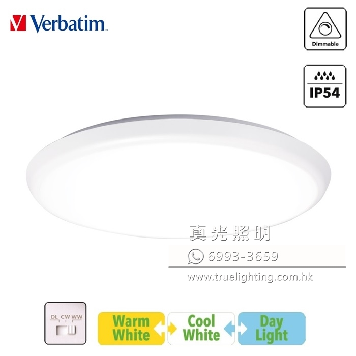 吸頂燈 天花燈 防水燈 30W LED Ceiling Lamp By VERBATIM