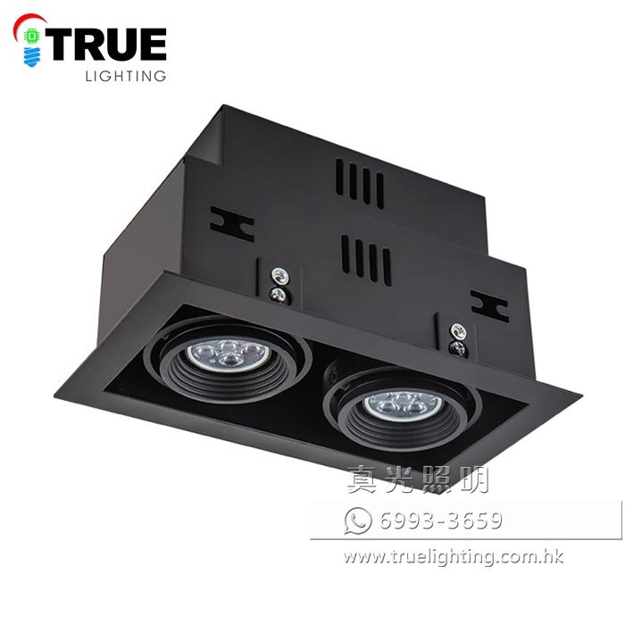盒仔燈(暗裝式雙頭) LED Recessed Downlight