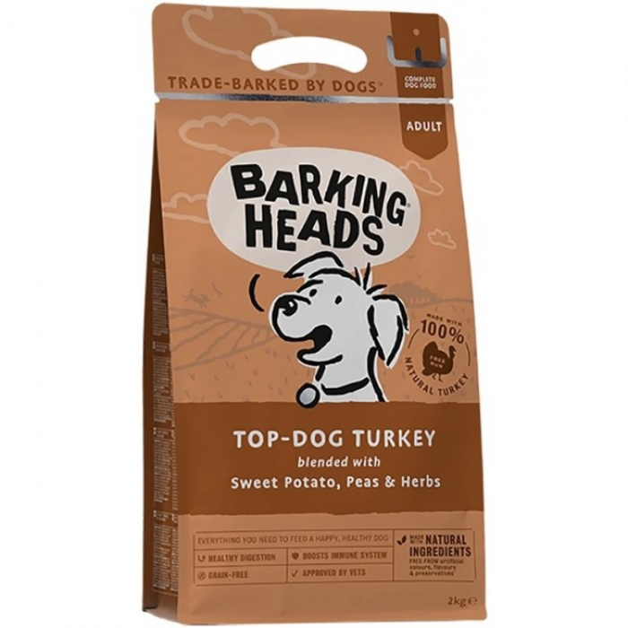 Barking Heads無穀物全天然成犬配方-56%放養火雞肉6kg (2kg x3)