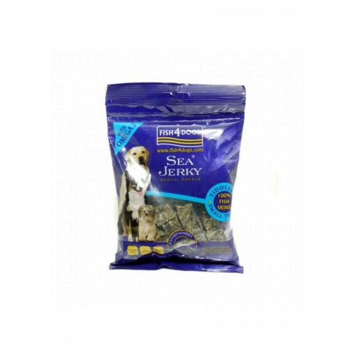 Fish4Dogs Sea Jerky Tiddlers FF 純魚皮方塊(小粒) 100g