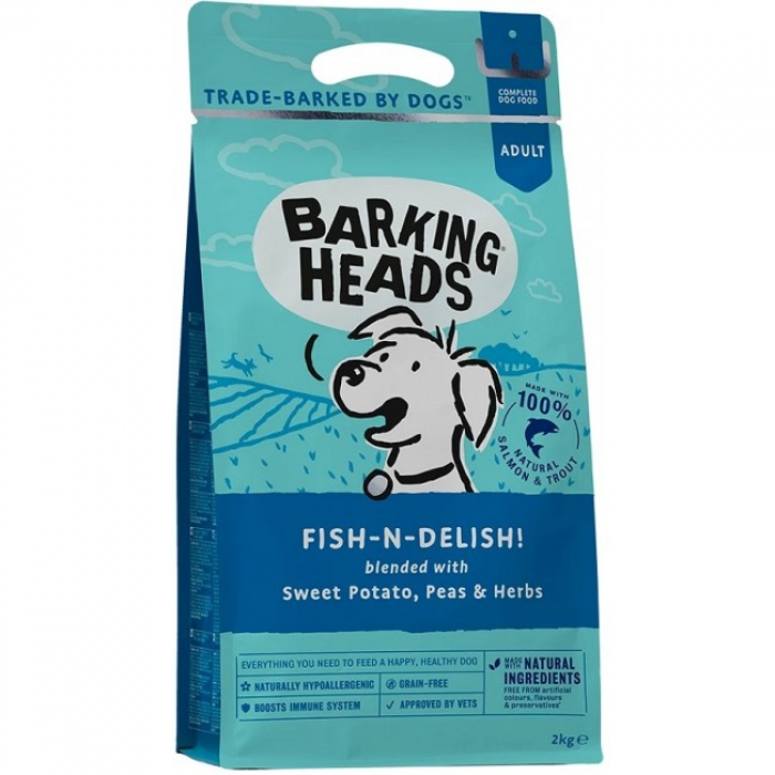 Barking Heads無穀物全天然成犬配方-57%三文魚+鱒魚6kg (2kg x3)