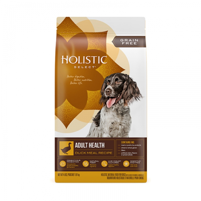 Holistic Select 無穀物鴨肉成犬配方 - 24 磅
