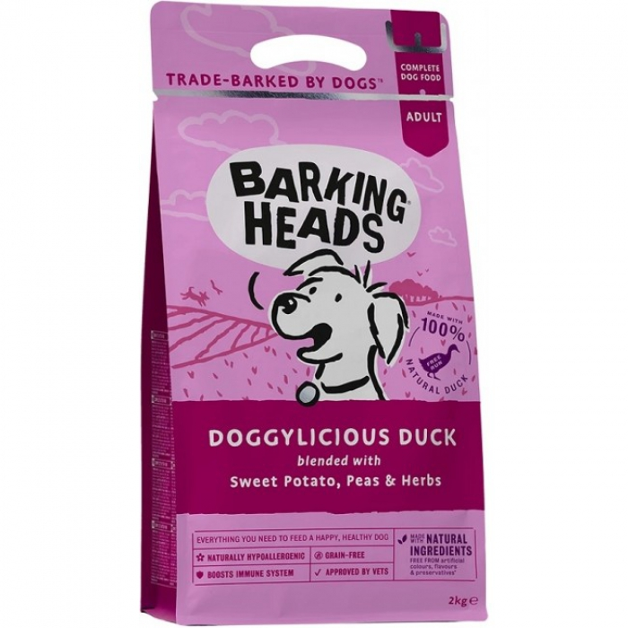 Barking Heads無穀物全天然成犬配方-56%放養鴨肉6kg (2kg x3)