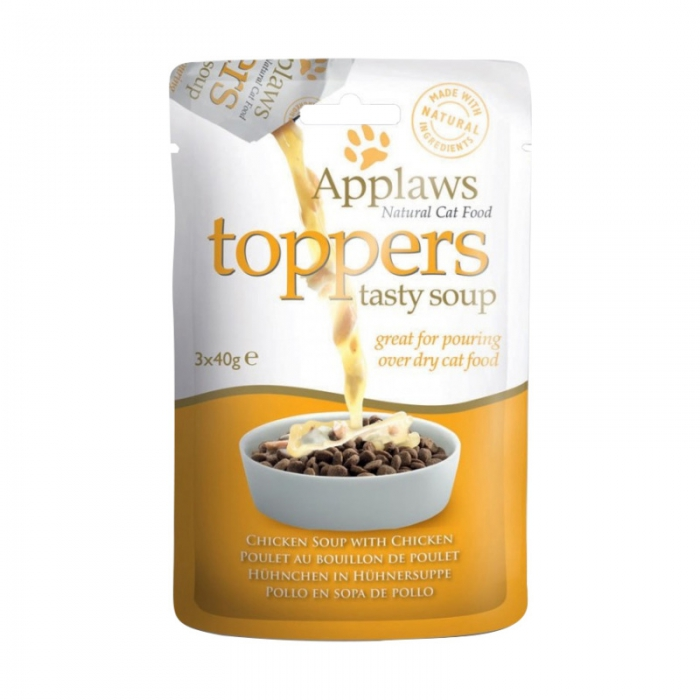 Applaws Toppers 鮮鷄肉貓湯包 3x40g