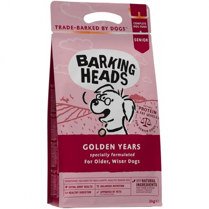Barking Heads全天然年長犬平衡配方-40%雞肉、鱒魚和三文魚6kg (2kg x 3)